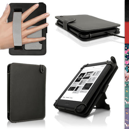 iGadgitz PU Leather Folio Case Cover for Kobo Glo HD 2015, Kobo Touch 2 & Kobo Aura with Hand Strap & Viewing Stand Thumbnail 1