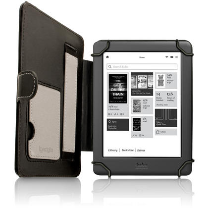 iGadgitz PU Leather Folio Case Cover for Kobo Glo HD 2015, Kobo Touch 2 & Kobo Aura with Hand Strap & Viewing Stand Thumbnail 3