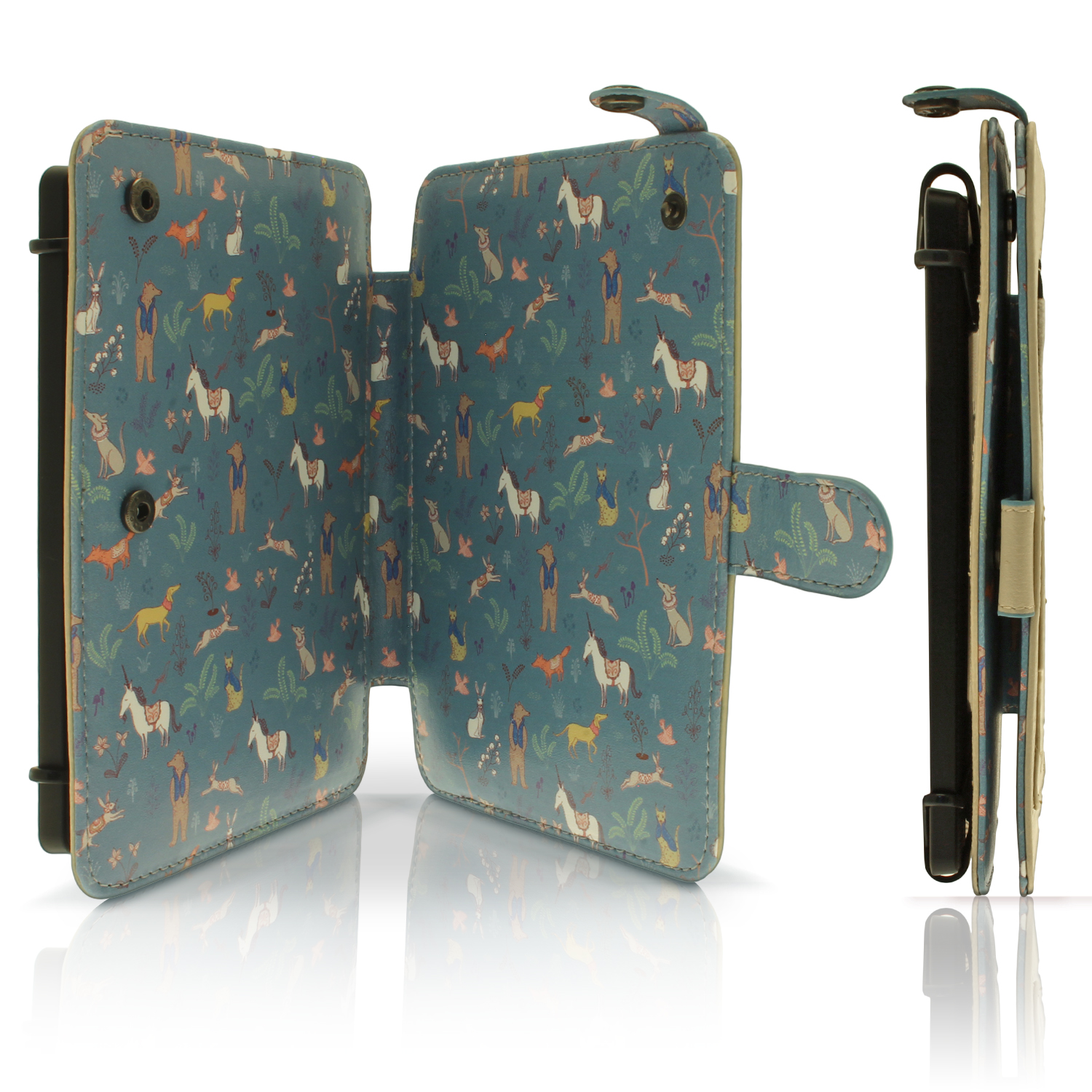 Pu leather skin folio case for kobo glo hd 2015 touch 2 for Housse kobo aura h2o edition 2