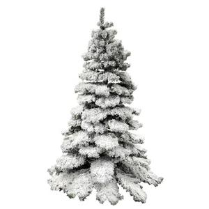 SNOW EFFECT CHRISTMAS TREE. 1000 TIPS. BUSHY XMAS DECORATION. WITH STAND. 7FT