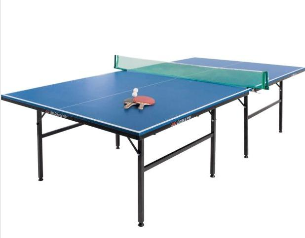 New 39 debut 39 full size 9 ft indoor table tennis table folds - Full size table tennis table dimensions ...