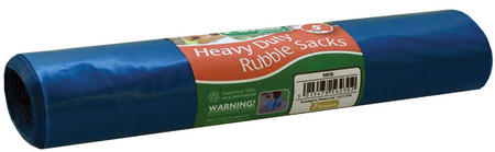 View Item 10 HEAVY DUTY RUBBLE SACKS. VERY STRONG 55 GAUGE THICKNESS. BUILDERS BAGS GARDEN