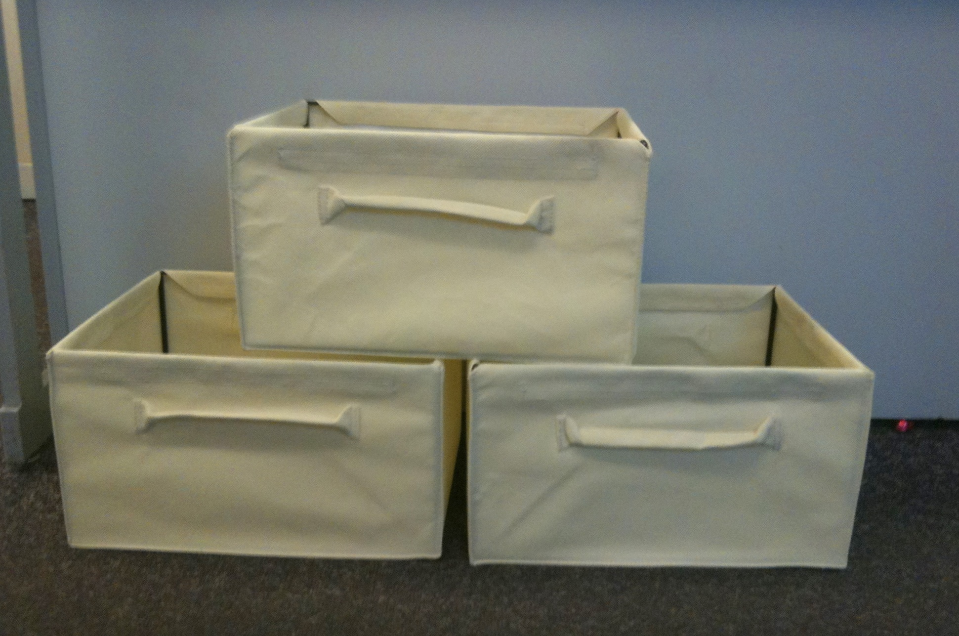 Canvas Storage Boxes For Wardrobes: SET OF 2 CANVAS STORAGE BOXES. UNDERBED. WARDROBES