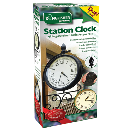 View Item DUAL FACED GARDEN CLOCK. PADDINGTON STATION LONDON. PATIO TRADITIONAL VICTORIAN