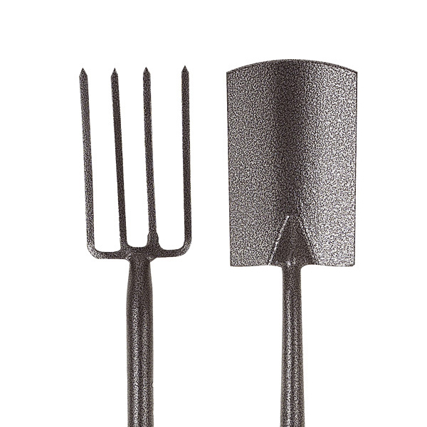 2 piece set of carbon steel digging fork and spade shovel for Garden fork and spade set