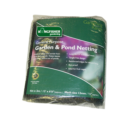 View Item 4M X 2M GENERAL PURPOSE GARDEN & POND NETTING MESH. PROTECT FISH, FRUIT, CROPS