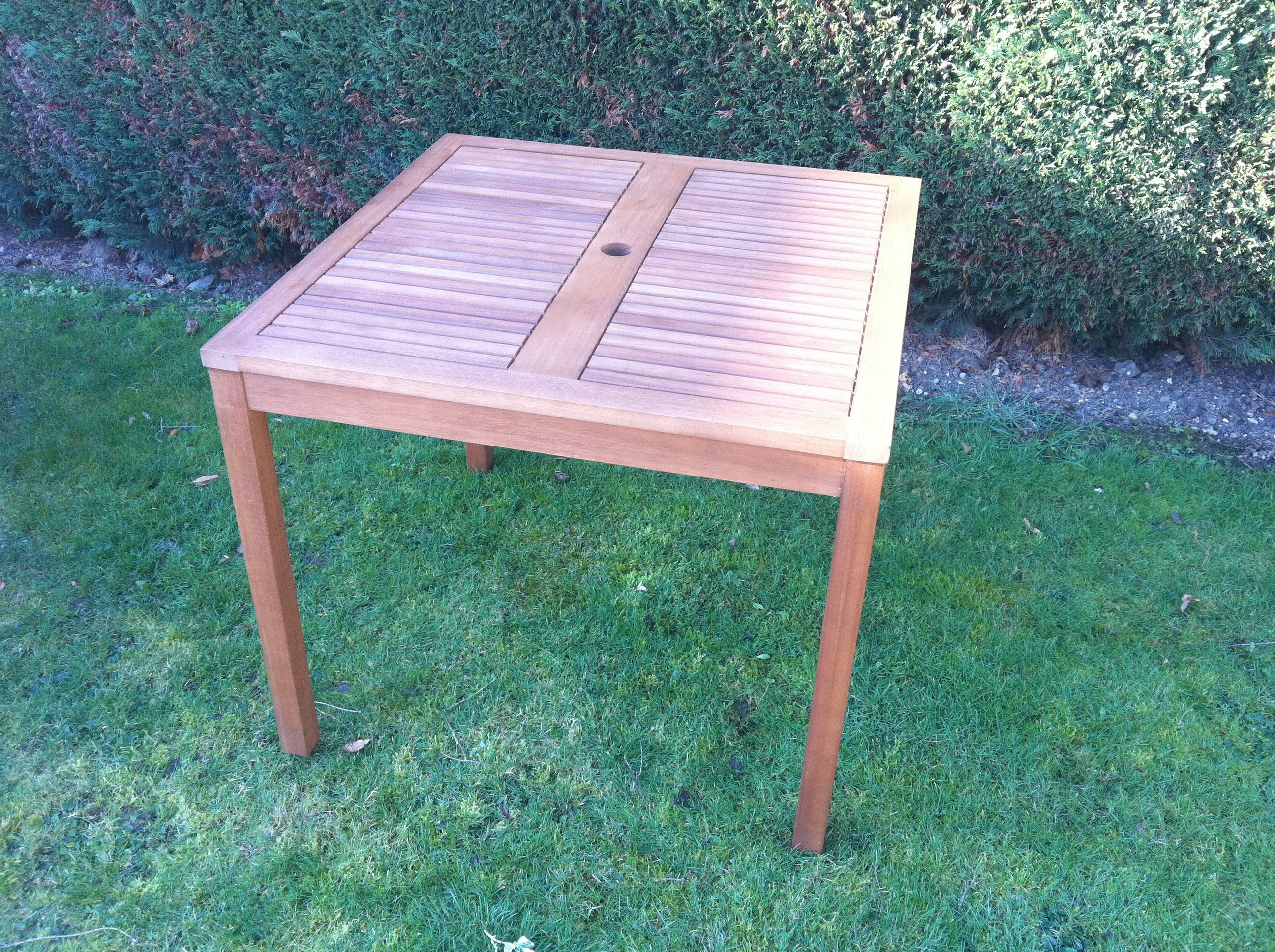 Fsc Solid Eucalyptus Wood 90cm Square Patio Table Outdoor