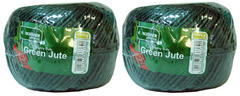 View Item Jute 125m Heavy Duty Green Twine String Spool New Twin Pack