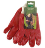 View Item PAIR RED HEAVY DUTY PVC GARDEN/GARDENING WORK GLOVES