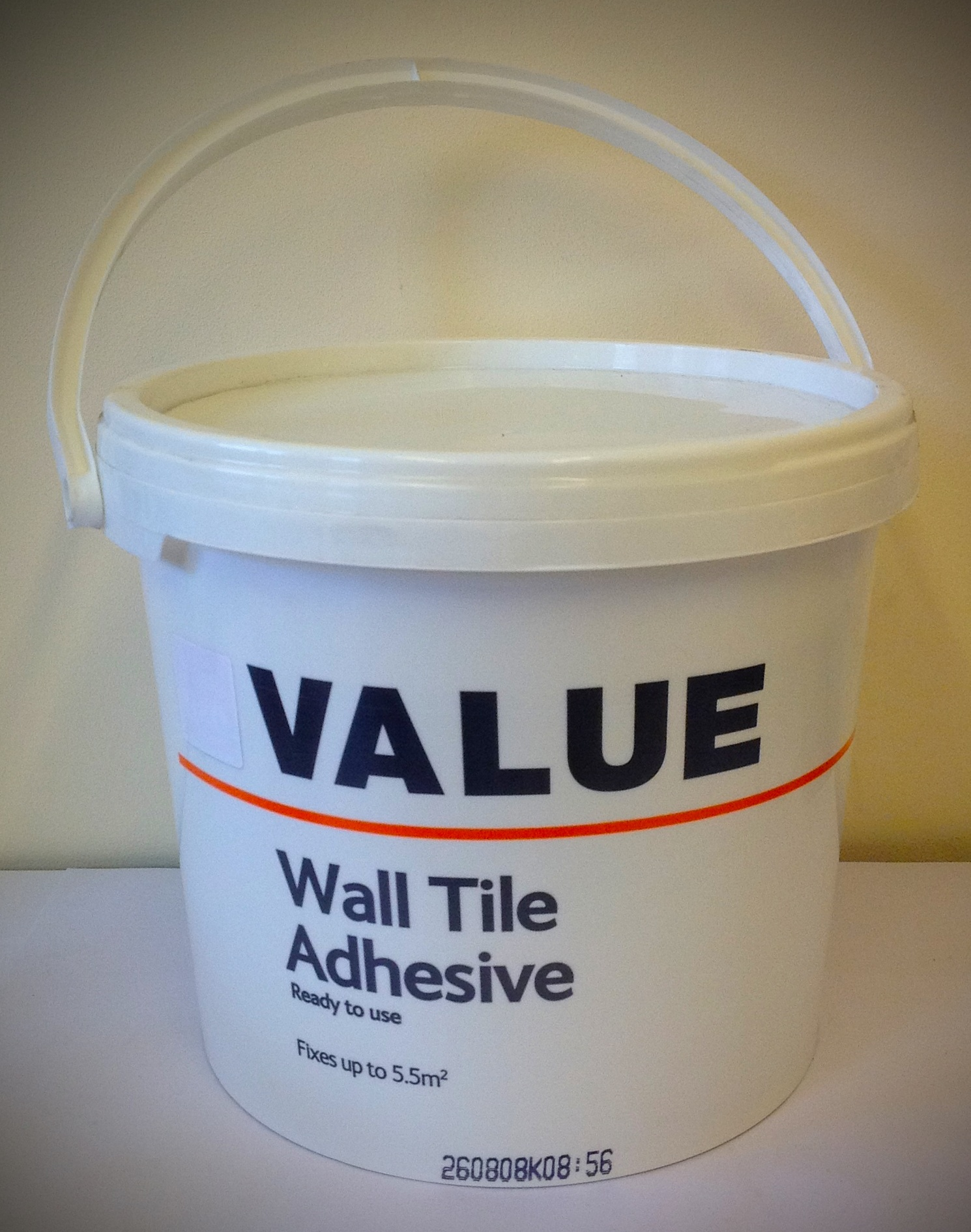 Large Tub Of Value Wall Tile Adhesive Ready To Use Fixes