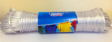 View Item 50M WASHING LINE SOLID / SEMI CLEAR COLOUR TO HANG DRY ALL YOUR CLOTHES. PLASTIC