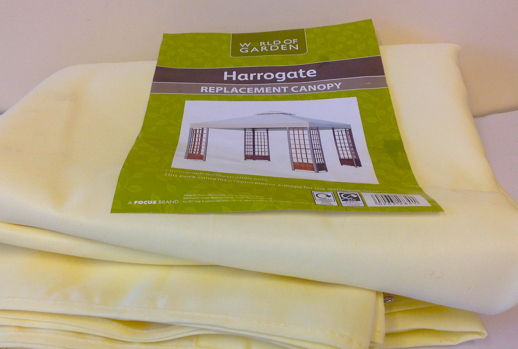 REPLACEMENT CANOPY FOR THE HARROGATE GAZEBO IN CREAM NEW Enlarged Preview