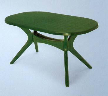 ac green garden table oval 150cm x 90cm resin patio