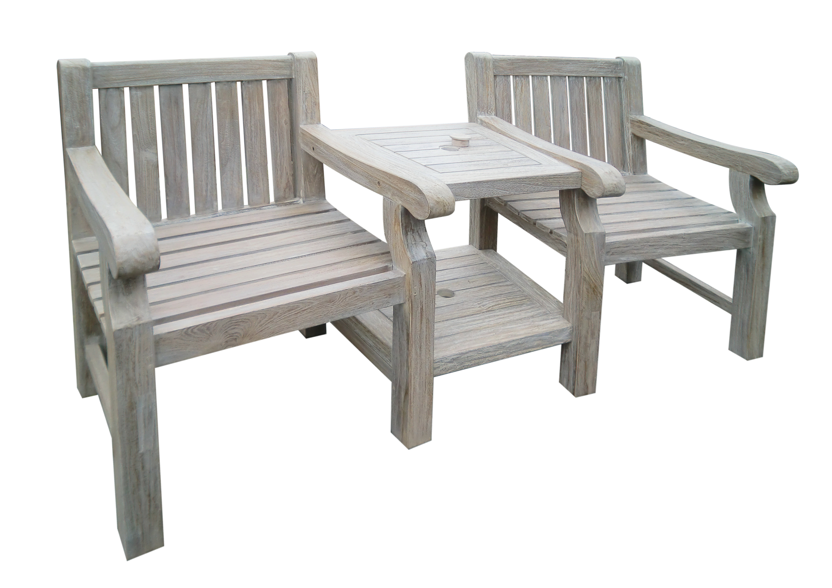 ... TEAK WOOD 2 SEAT LOVE SEA TCOMPANION DUO GARDEN BENCH PATIO FURNITURE