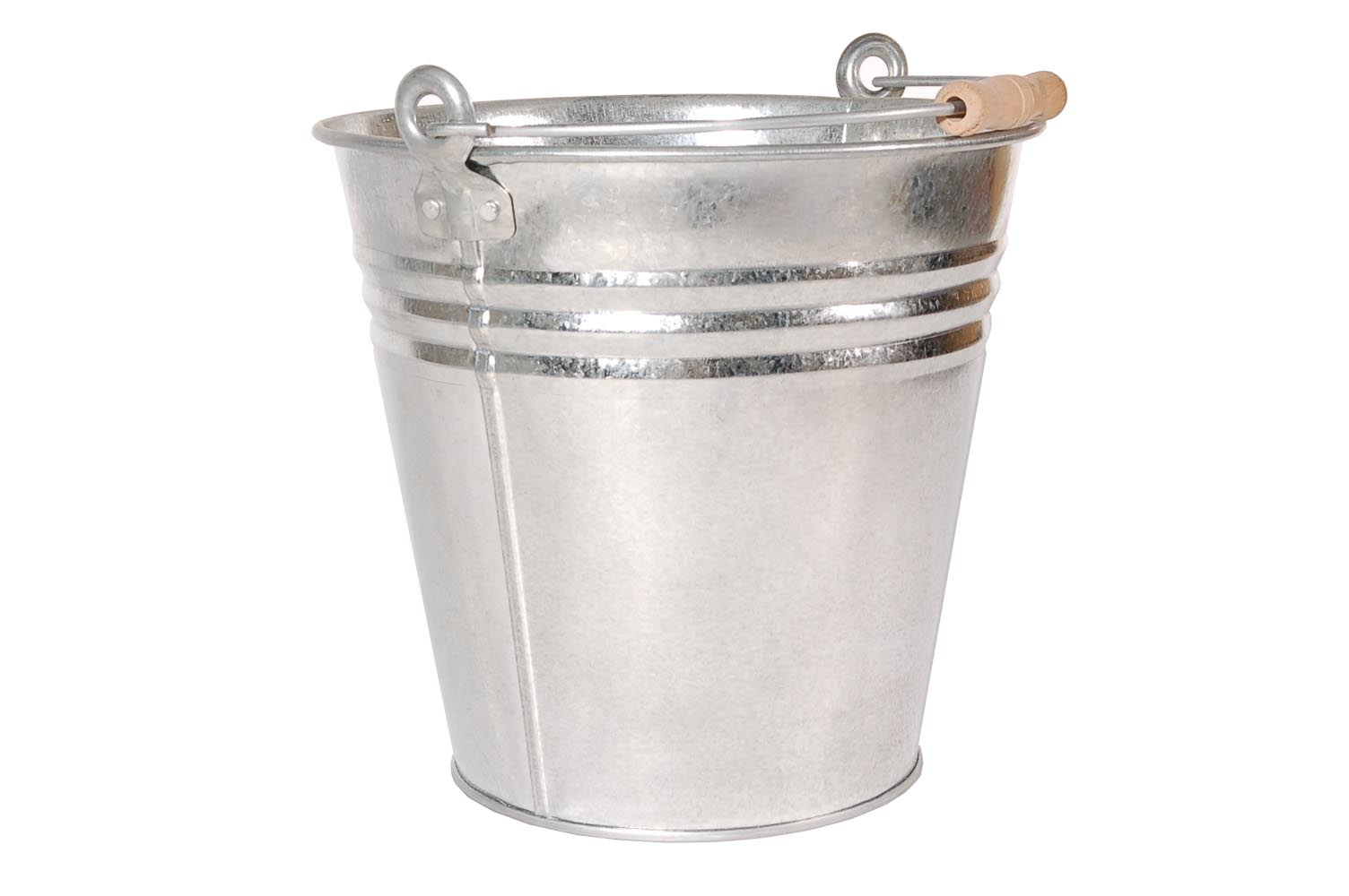 10 LITRE HEAVY DUTY GALVANISED METAL BUCKET COAL ASH KINDLING