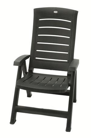 garden reclining arm chair folding resin high back