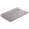 View Item 10 BBQ DISPOSABLE ALUMINIUM FOIL TRAYS 35cm x 23cm. ROASTING FOOD BARBECUE PARTY