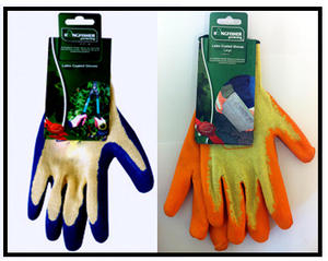 GARDEN LATEX COATED GLOVES 2 PAIRS ADULT MENS LARGE. GARDENING BUILDING WORK DIY Preview