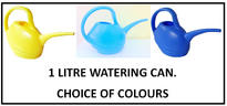 View Item 1 LITRE WATERING CAN. STYLISH IN A RANGE OF COLOURS. WATER PLANTS POTS BASKETS