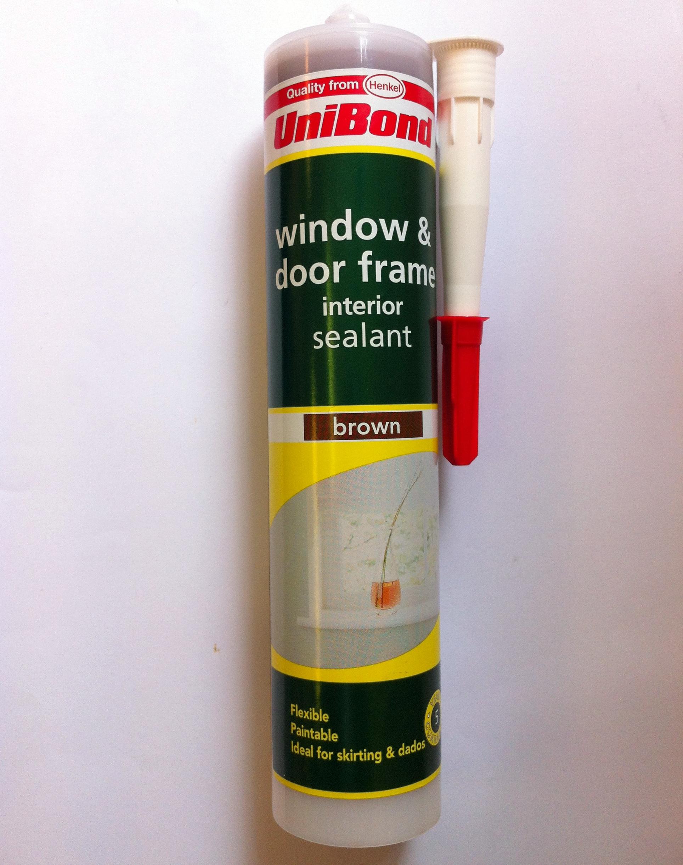 NEW WINDOW & DOOR FRAME ADHESIVE SEALANT BROWN 500 G RAILS ...