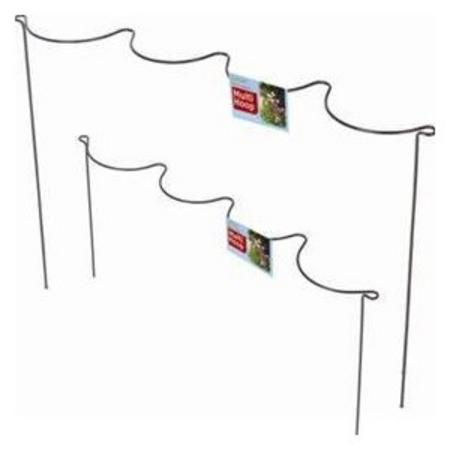 View Item INVISIBLE PLANT BORDER MULTI HOOK PACK PLASTIC COVERED GALVANISED STEEL. BLACK