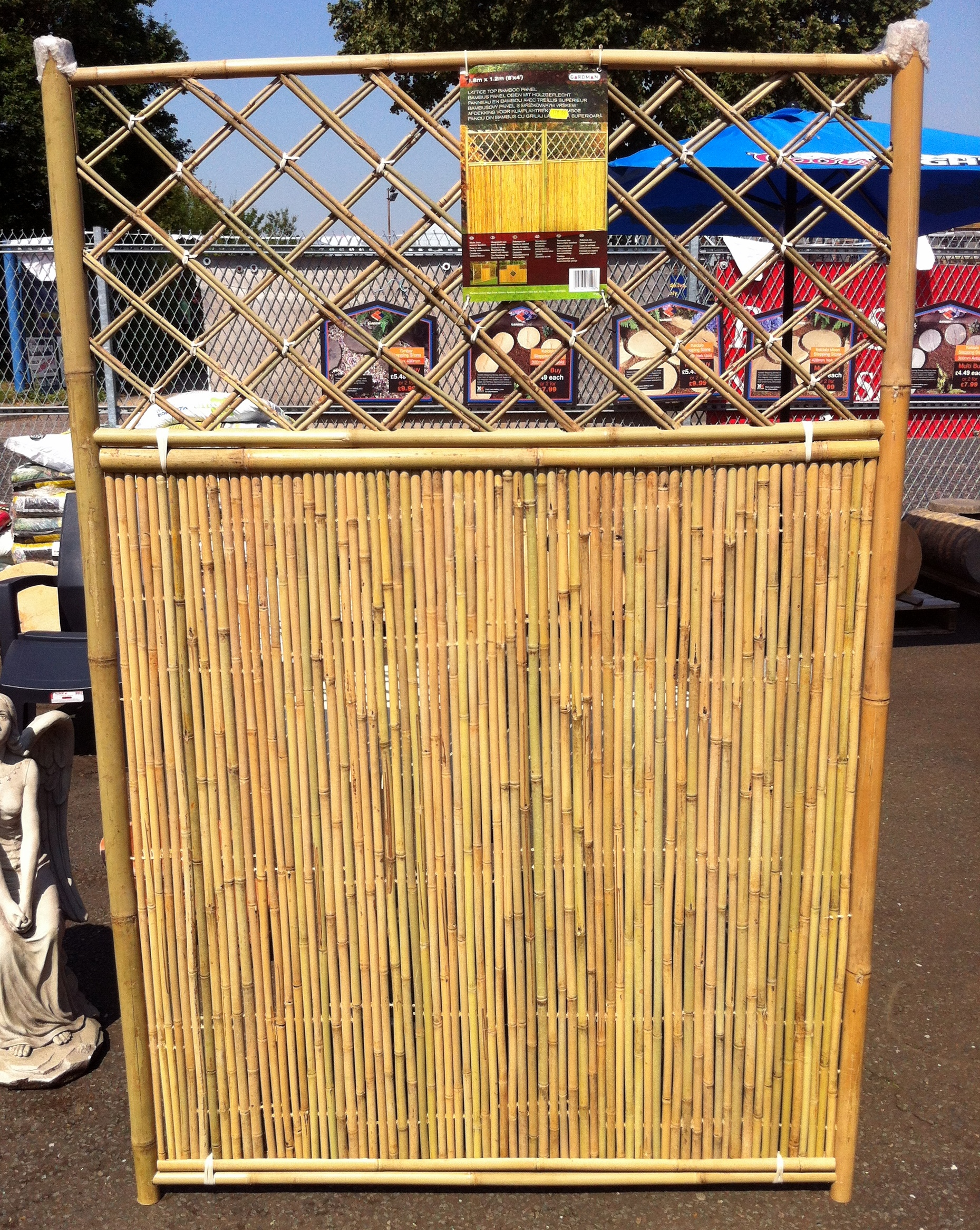 Garden bamboo panel wall solid 1 8 m x 3 pack new for Outdoor bamboo screen panels