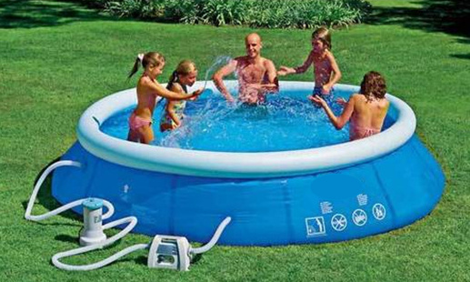 12ft Swimming Pool: SWIMMING POOL NEW 12FT EASY SET O BLUE 3KW HEATER PUMP