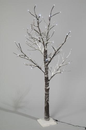 CHRISTMAS TREE 70cm PRE LIT 30 LED SNOW TWIG LOW