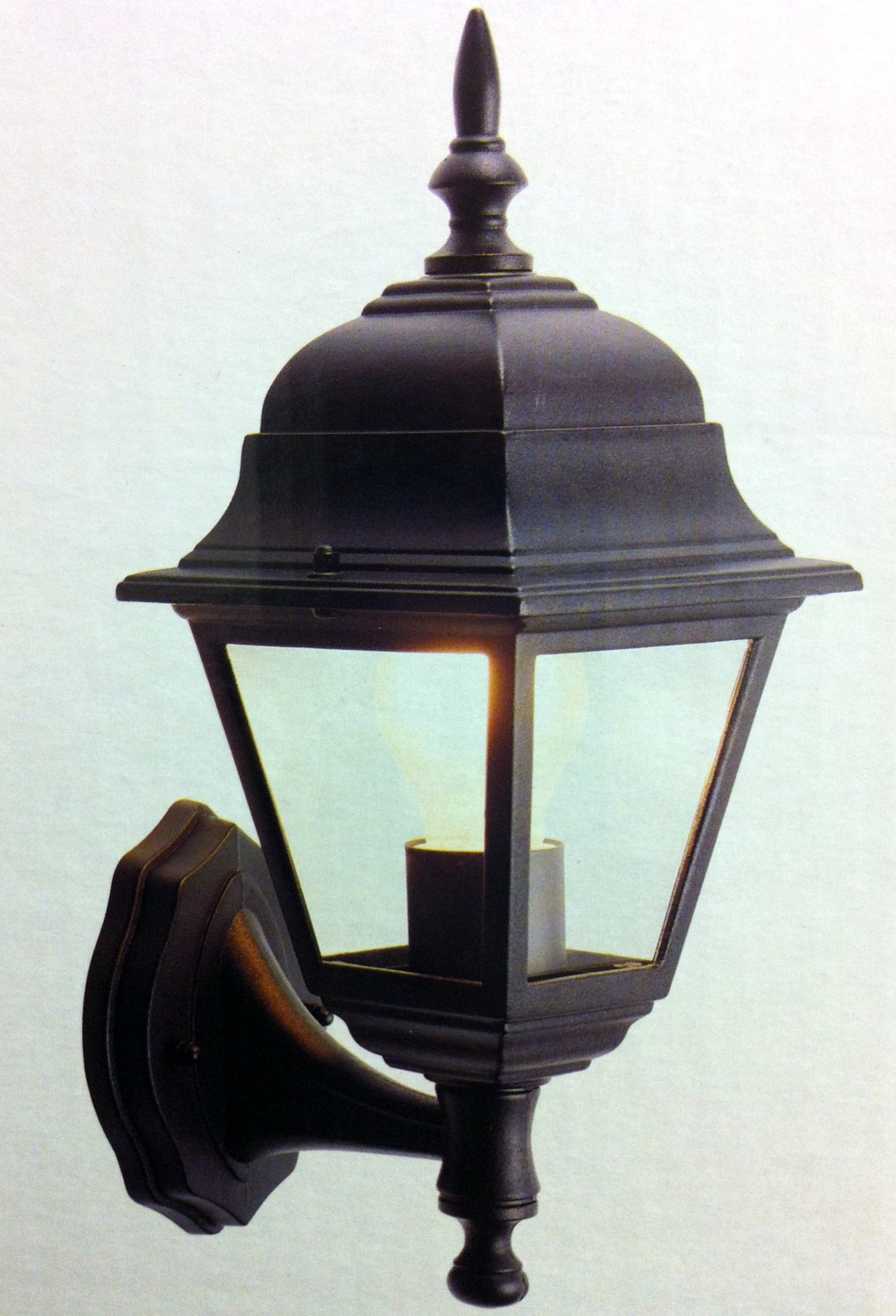 OUTSIDE LIGHT PORCH SECURITY GARDEN WALL LANTERN BLACK OR WHITE EXTERIOR LIGHTS eBay
