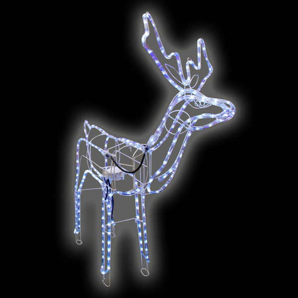 christmas reindeer led white rope light indoor outdoor xmas decor