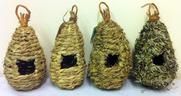 View Item ROOSTER POCKETS. HAY, LEAF OR WOOD MADE. NATURAL LOOKING BIRD NESTS. NEW. ECO.