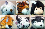 View Item ADULT / KIDS ANIMAL HATS. WOLF, LION, TIGER, APE AND MORE! LONG SCARF OR MITTS.