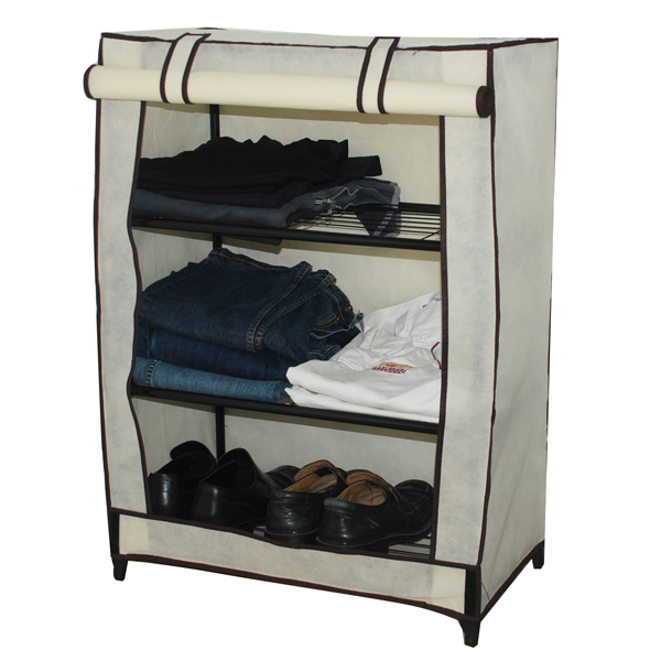 chest of drawers canvas 3 shelf unit bedroom storage