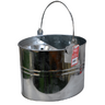 View Item GALVANISED STEEL MOP BUCKET. STEEL HANDLE. 29cm x 33.5cm x 24.5cm. NEW. CLEANING