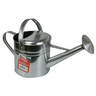 View Item 5L GALVANISED WATERING CAN. 5 LITRE CAPACITY. COMES WITH ROSE. TWO HANDLES. NEW