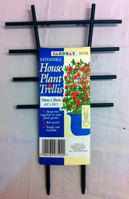 View Item HOUSE POTTED PLANT TRELLIS. EXTENDABLE. ROT PROOF TOUGH REUSABLE. SNAPS TOGETHER
