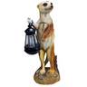 View Item SOLAR POWERED MEERKAT GARDEN PATIO LIGHT LANTERN . DUSK DAWN LIGHTING ORNAMENT