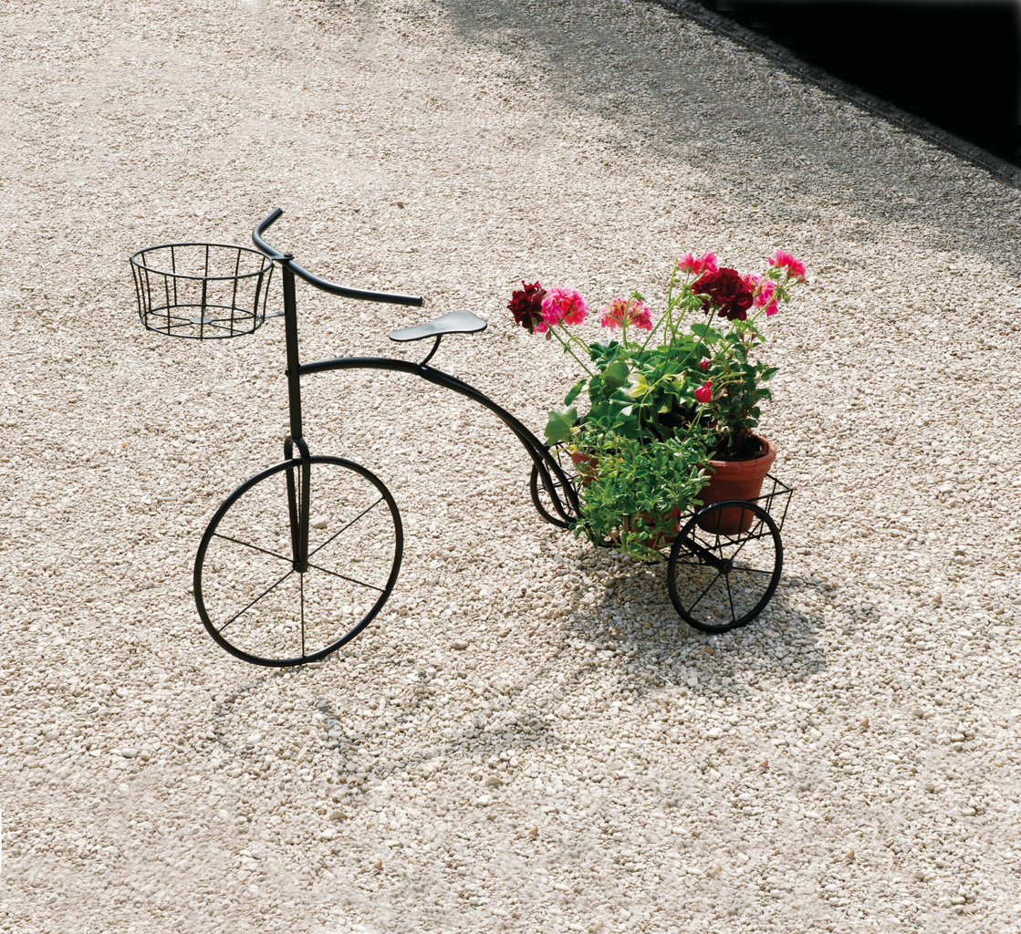 Tricycle plant support stand new sturdy steel garden decoration plant pots ebay - Bicycle planter stand ...