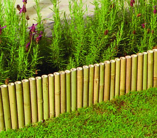 Garden bamboo lawn edging 100cm x 15cm border edge for 70 bamboo garden design ideas