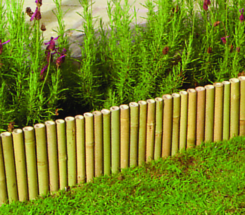 Garden Bamboo Lawn Edging 100cm X 15cm Border Edge Flexible Metal Spine N