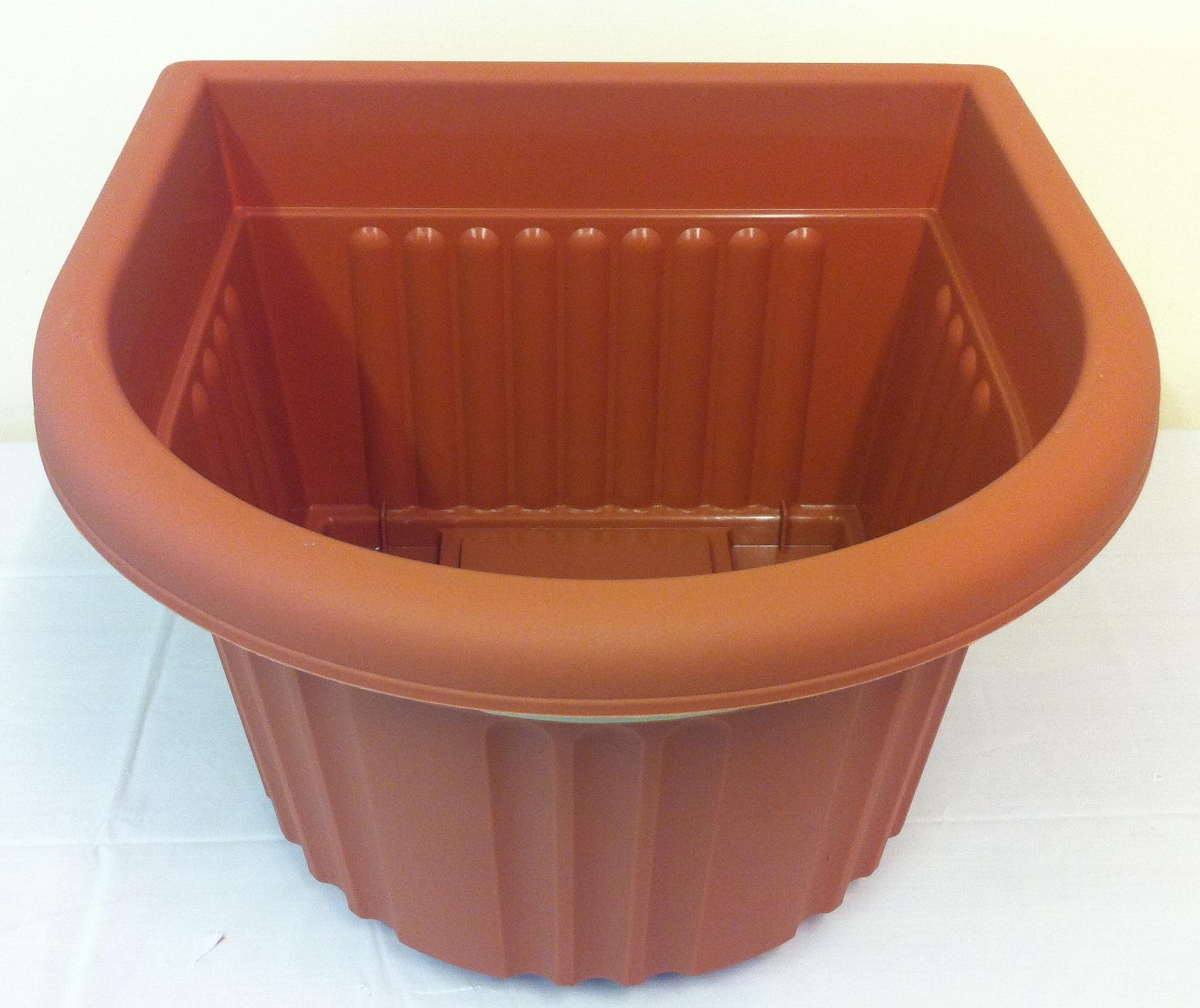 Large ornamental plant pot garden 40cm semicircle 26cm for Terracotta works pots