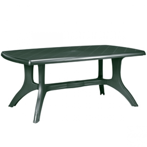 green garden table resin patio furniture outdoor dining 165cm bbq