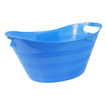 View Item PEG BASKET ORANGE OR BLUE. 34cm LENGTH x 23cm WIDTH x 14cm DEPTH. NEW.