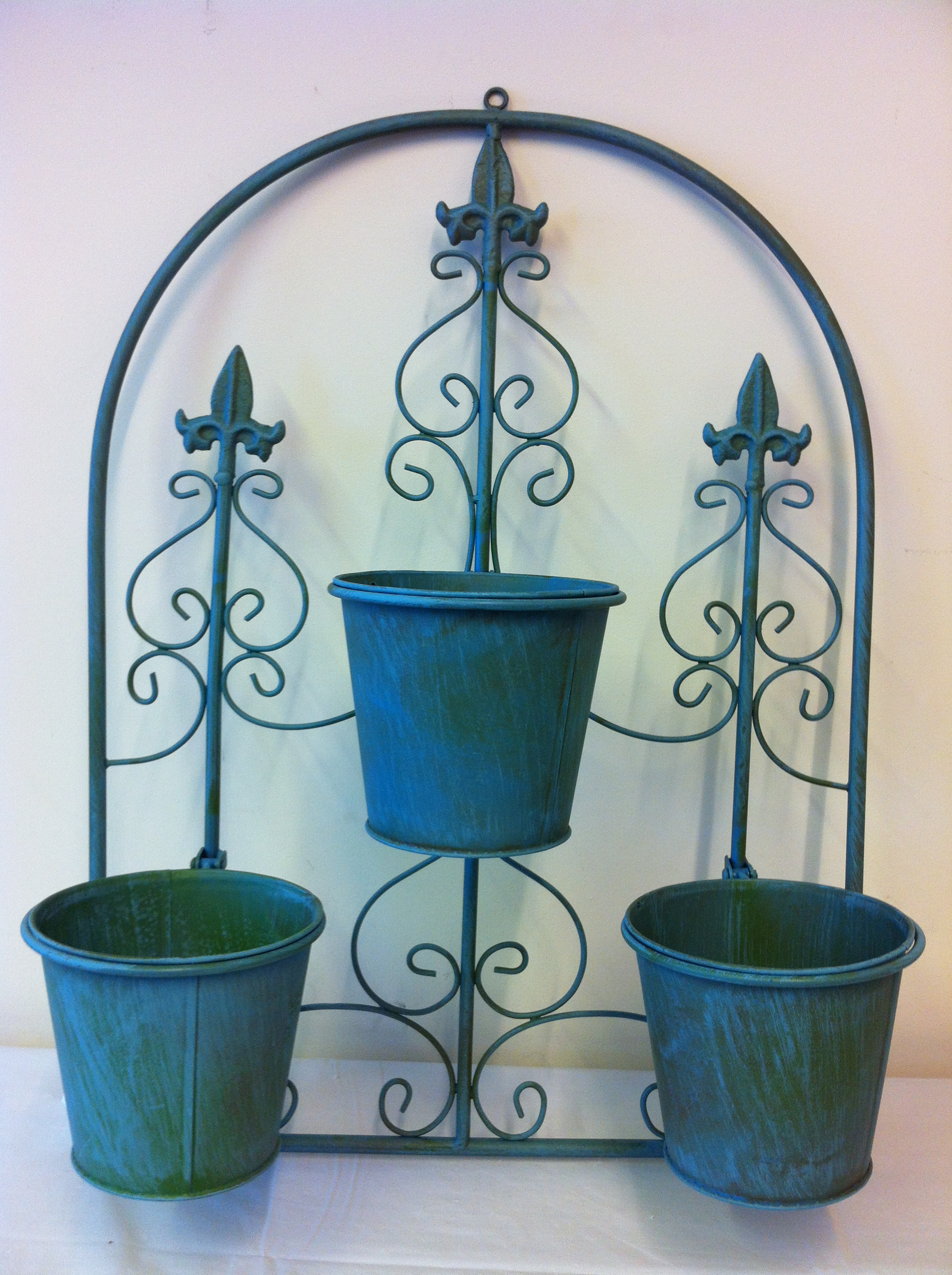 3 Pot Arch Planter Wall Hanging Garden Ornament Includes
