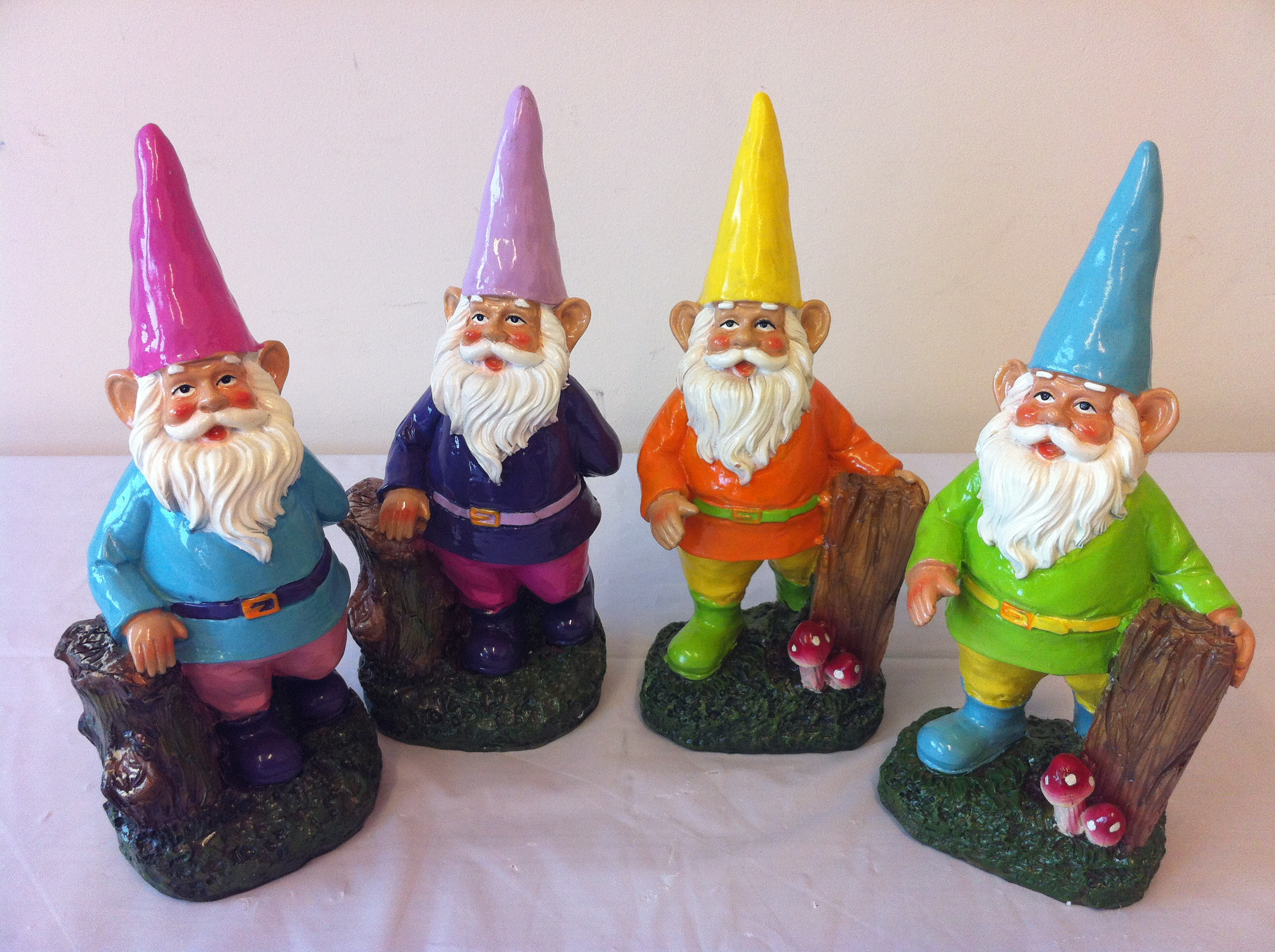 Gnome 4: Outdoor Garden Gnome. Weather Treated. Well Painted. New