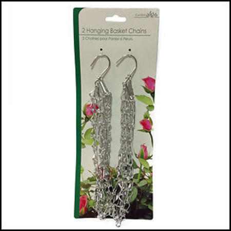 View Item 2 HANGING BASKET CHAINS. MULTIPACK. THREE 16'' ARMS FOR BALANCING A BASKET. HOOK