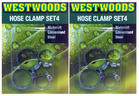 View Item 8 GARDEN HOSE PIPE CLAMPS JUBILEE CLIPS (2 PACKS OF 4) 26mm & 38mm DIAMETER PIPE