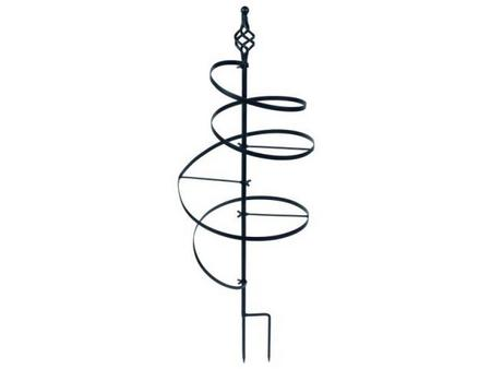 View Item BLACKSMITH SPIRAL PLANT SUPPORT. POT / BORDER. STRONG METAL. EASY ASSEMBLY. MED