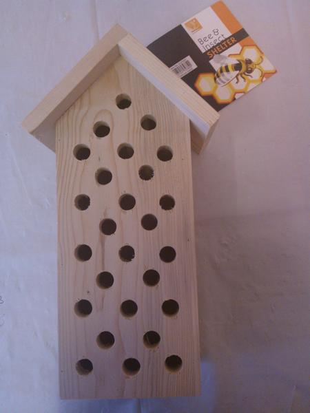 View Item BEE & INSECT SHELTER. WALL MOUNTED. WOOD. QUALITY. HELP YOUR GARDEN THRIVE.