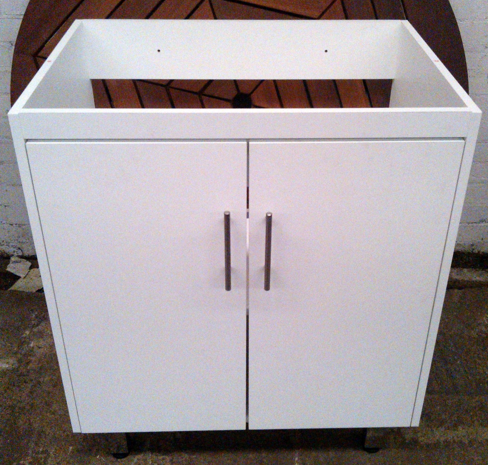 white vanity unit bathrooms and kitchens wood without